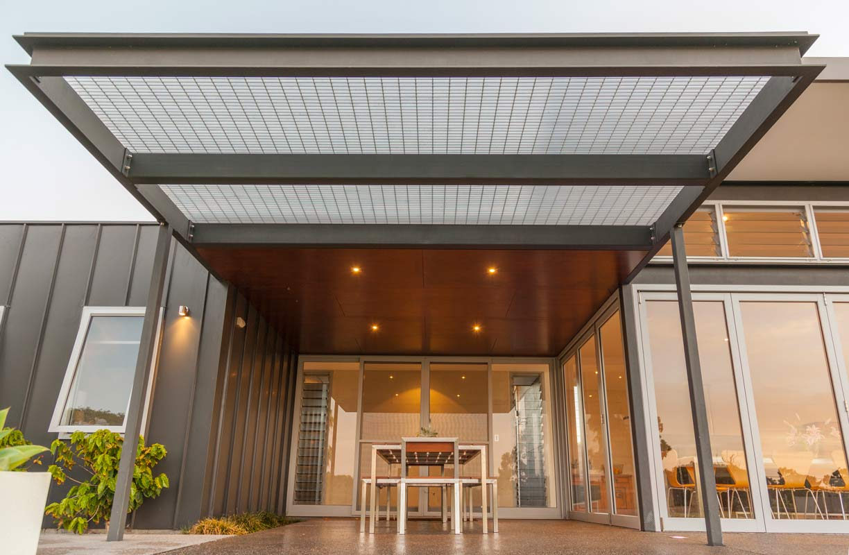 Architect in Yallingup, Threadgold Architecture designed environmentally sustainable designed entry area.