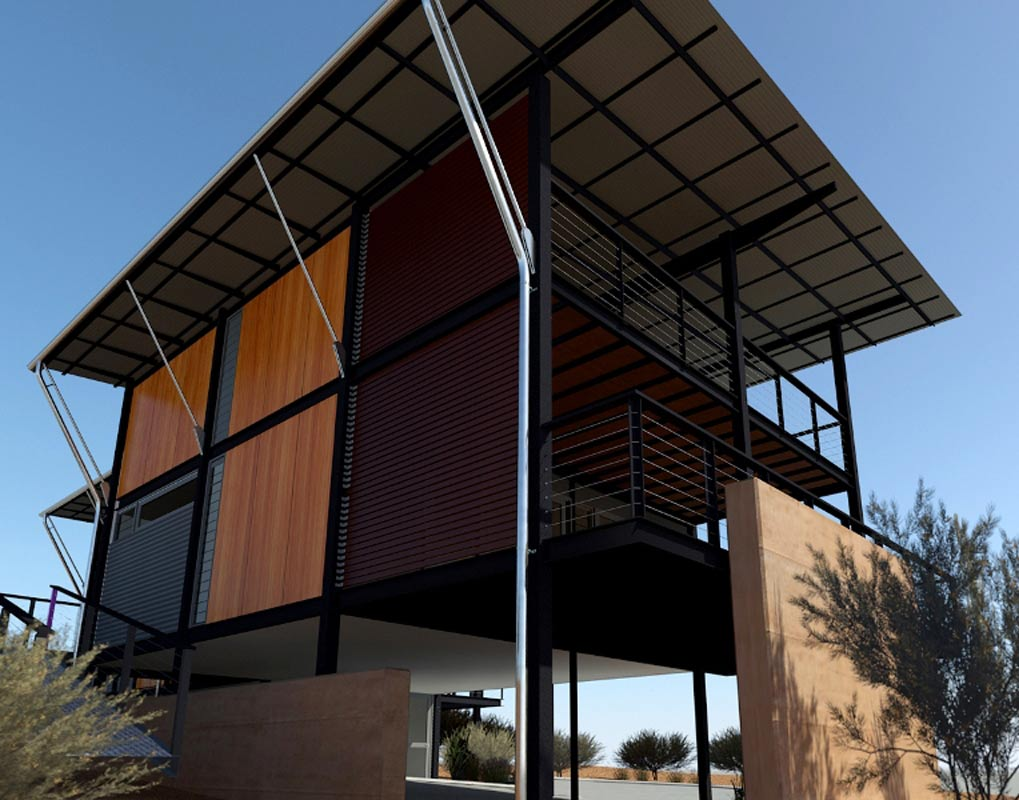 Architect in Margaret River, Threadgold Architecture designed pre-fabricated home design in Prevelly, Margaret River