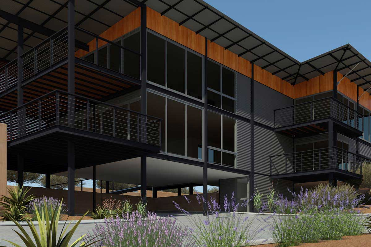 Architect Margaret River, Threadgold Architecture design of a pre-fab modern home in Prevelly, Margaret River.