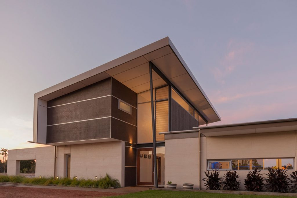 Entry Design for Eco House in Dunsborough, designed by Threadgdold Architecture, Busselton and Perth offices.